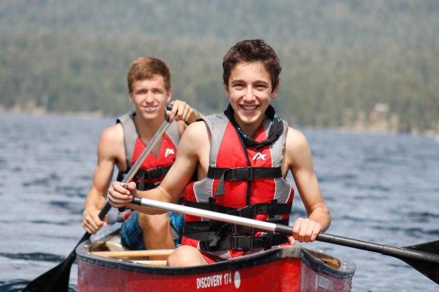 Teen Boys Canoeing