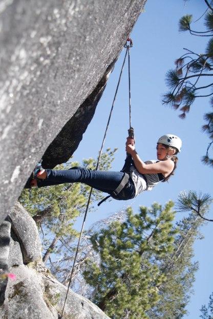 Rock Climbing at Camp
