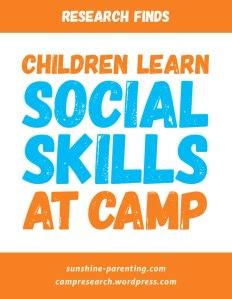 Children Learn Social Skills at Camp